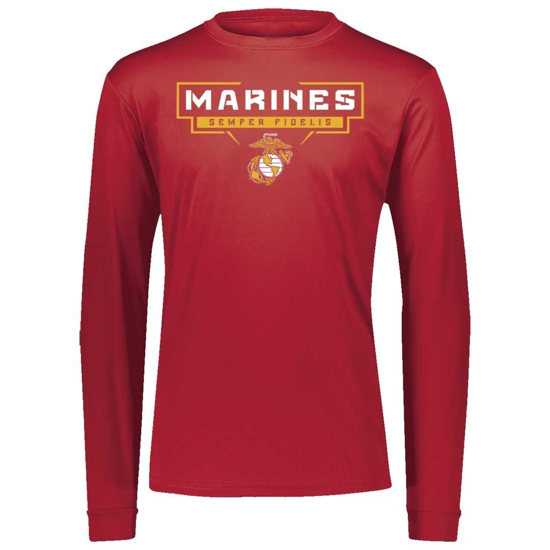 Bracket Marines Dri-Fit Performance Long Sleeve - Marine Corps Direct