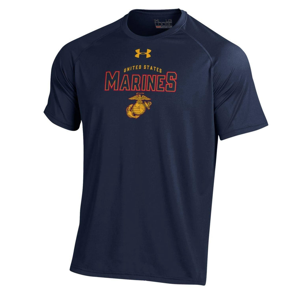 Under Armour Midnight Navy Performance Tee - Marine Corps Direct  - 1