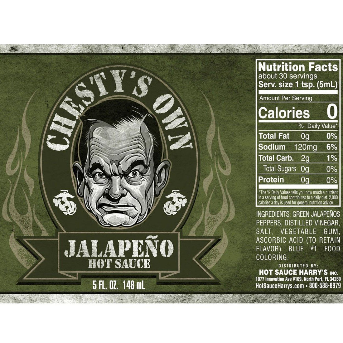 "Hot Sauce ""CHESTY'S OWN"" - JALAPENO - Marine Corps Direct"