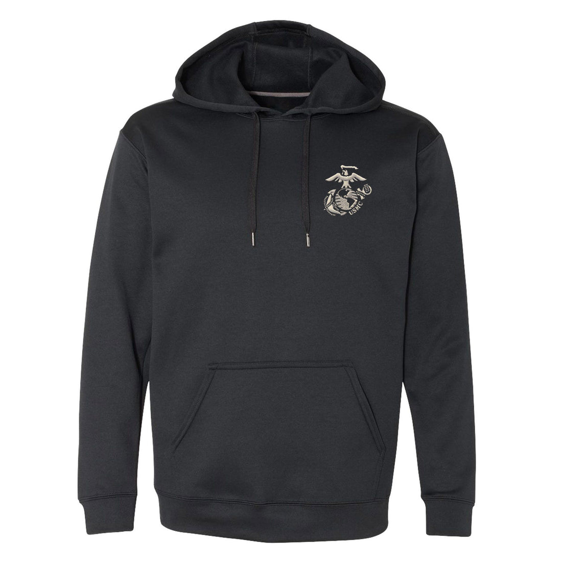 COMBAT CHARGED EMBROIDERED  DRI-FIT PERFORMANCE POLY US MARINES HOODIE