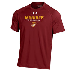 Under Armour Combat Red Performance Tee - Marine Corps Direct  - 1