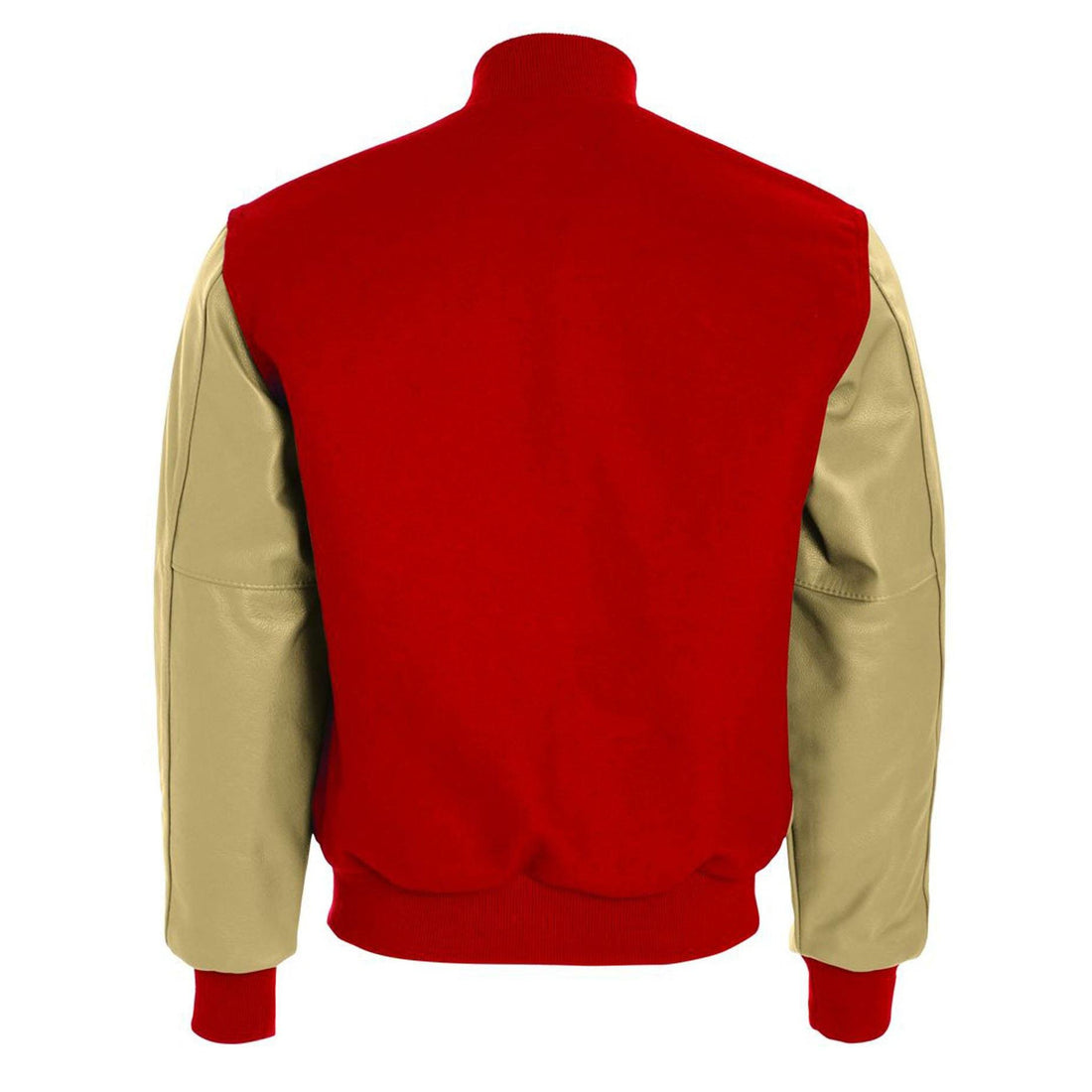 Custom USMC Varsity Jacket Scarlet and Cream