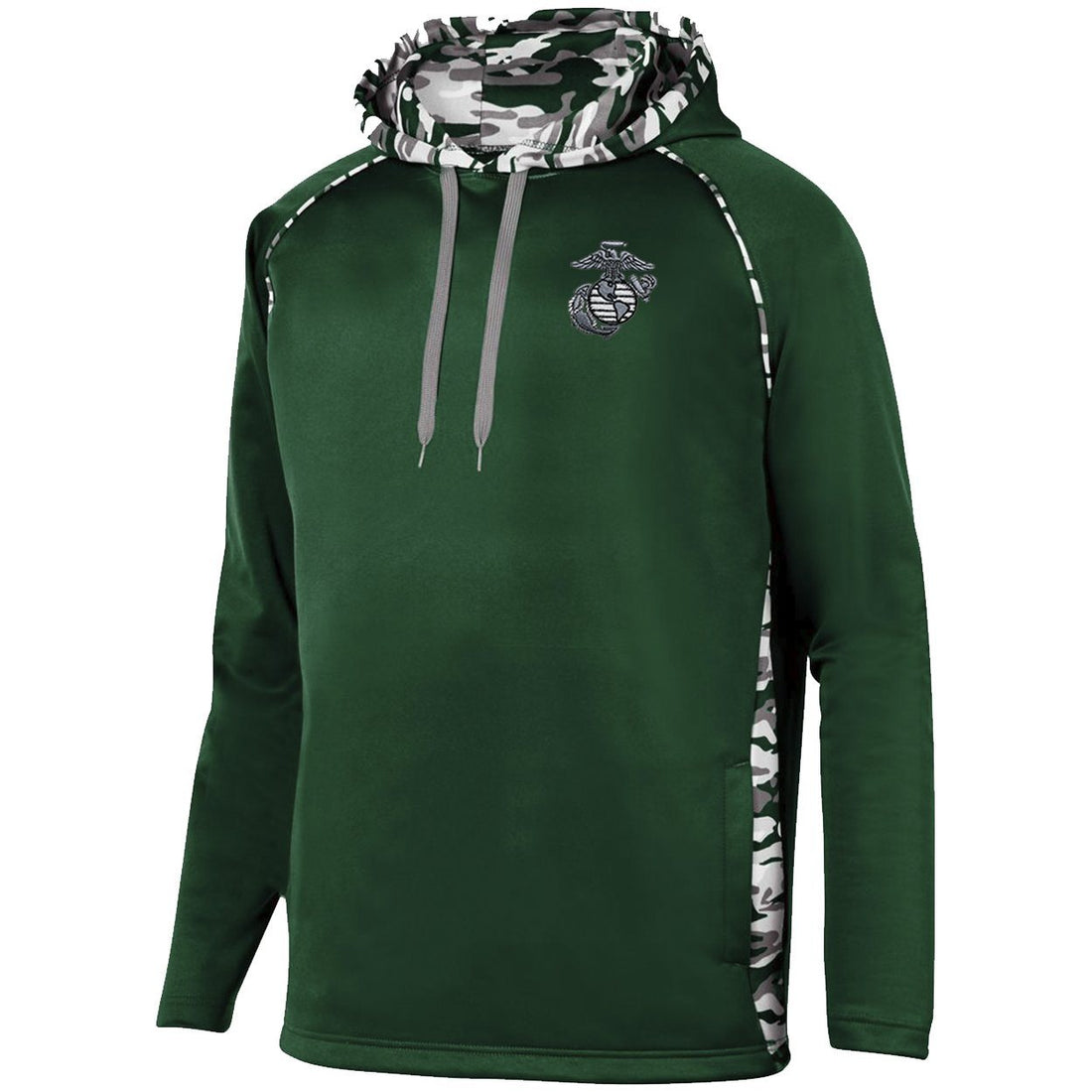 COMBAT CHARGED Aluminum EGA Embroidered Augusta PERFORMANCE Mod Camo Hoodie