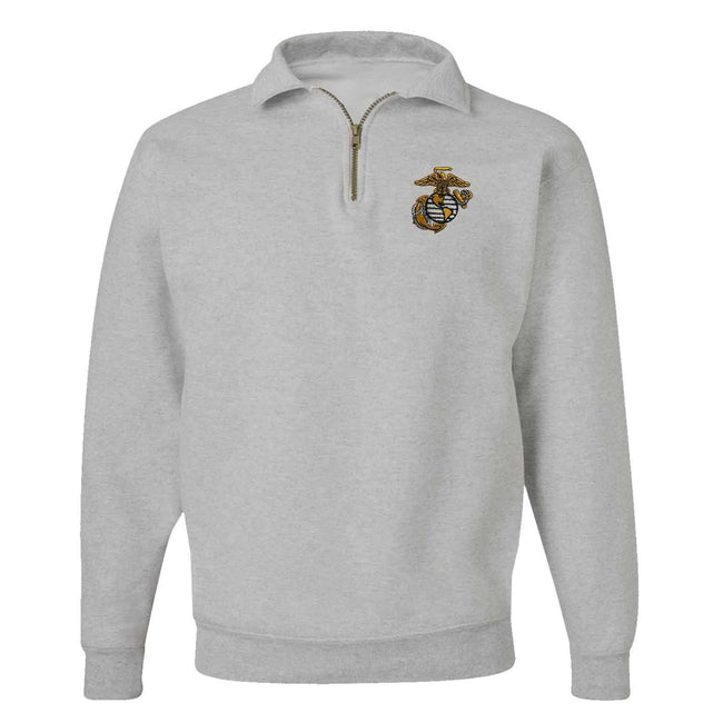 EGA Quarter-Zip Cadet Collar Embroidered Sweatshirt - Close 0ut