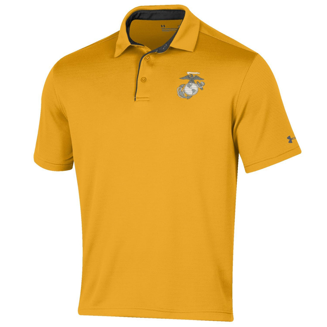 CLOSEOUT Under Armour Marines Tech Polo Gold