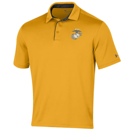 Under Armour Marines Tech Polo Gold