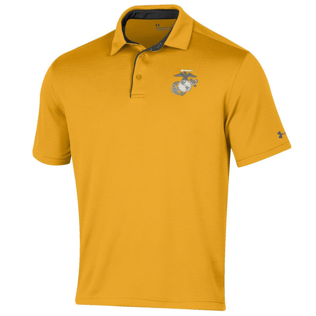 Under Armour Marines Tech Performance Polo Gold