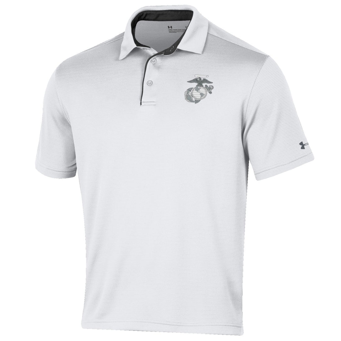 Under Armour Marines Tech Performance Polo White