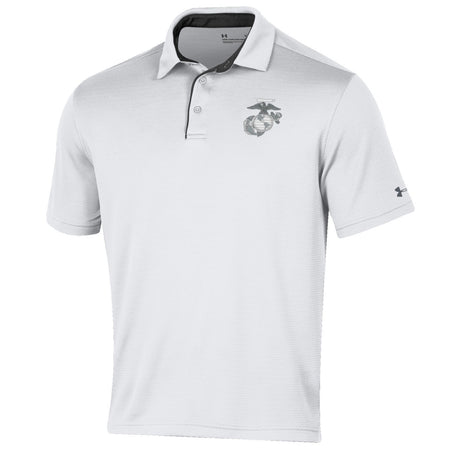 Under Armour Marines Tech Polo White