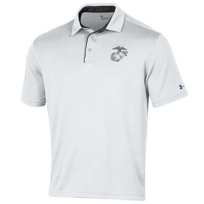 CLOSEOUT Under Armour Marines Tech Polo White