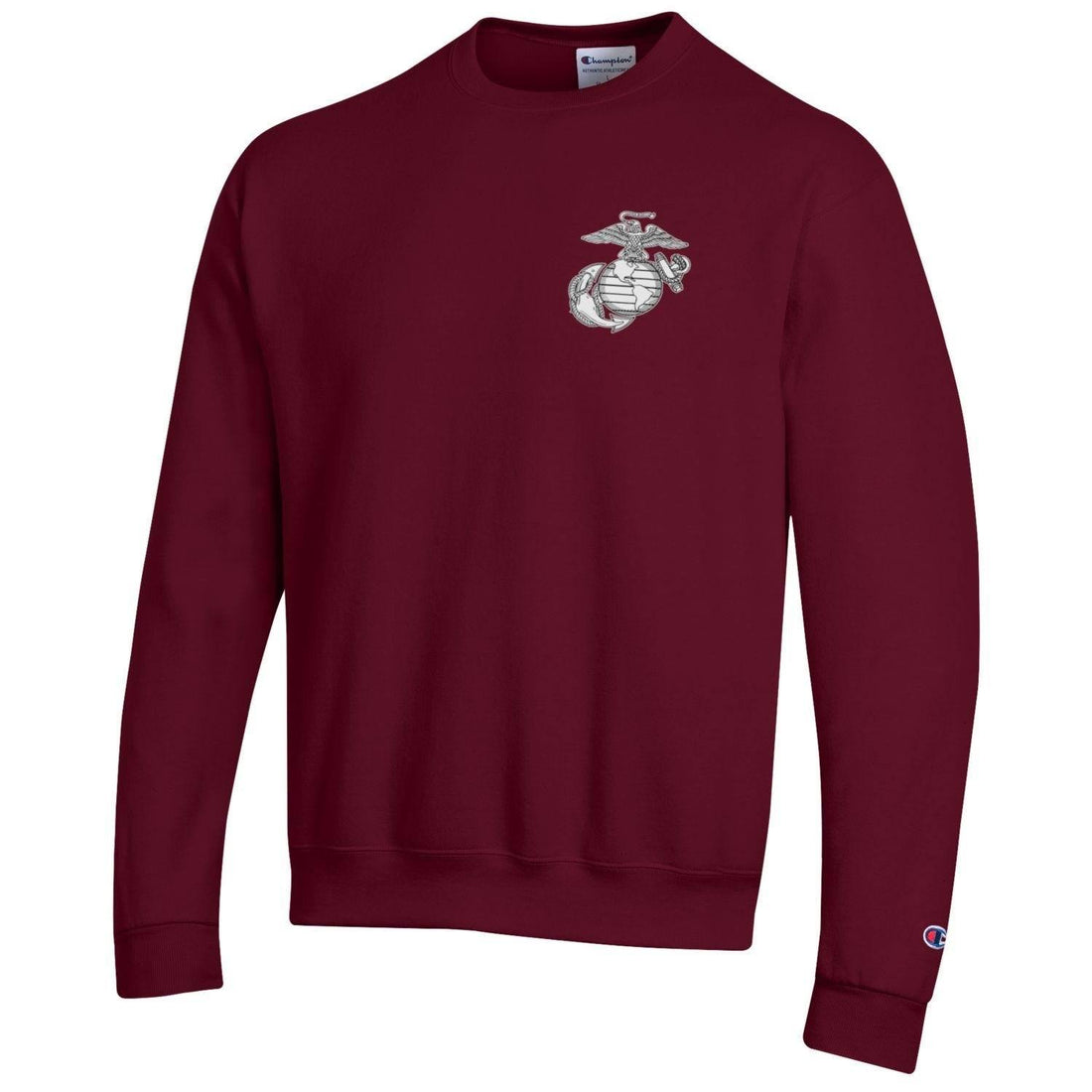 Champion Freedom Isn't Free MAROON 2-Sided Power Blend Sweat Shirt - Marine Corps Direct