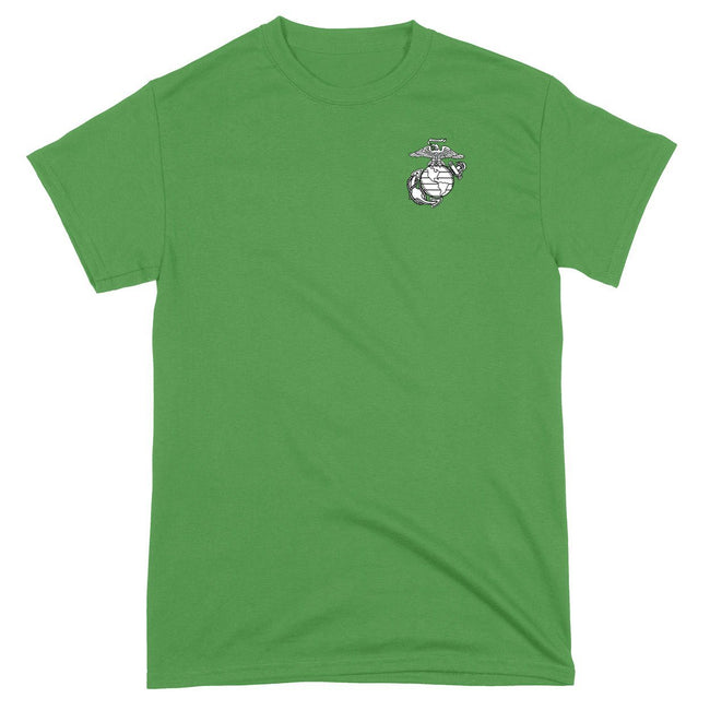 St. Patrick's Day Eagle, Globe and Anchor T-Shirt