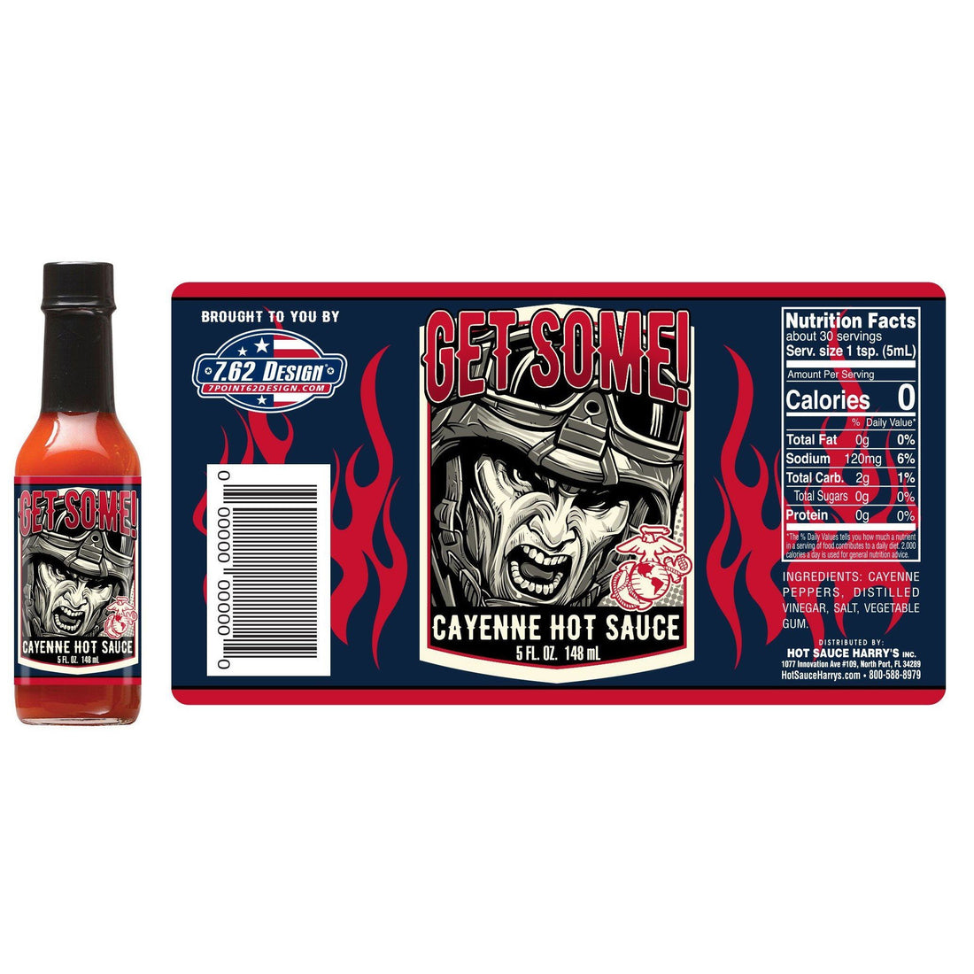 "Hot Sauce ""GET SOME"" - CAYENNE - Marine Corps Direct"
