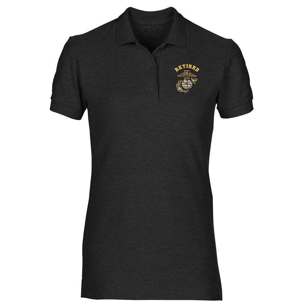 Women's USMC clothing by Marine Corps Direct called Retired EGA Embroidered Women's Polo