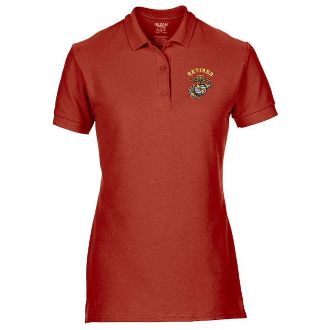 Women's Retired Polo (MULTIPLE COLORS) - Marine Corps Direct  - 1
