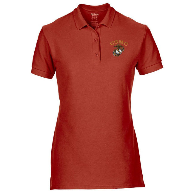 Tonal USMC EGA Embroidered Women's Polo - Marine Corps Direct