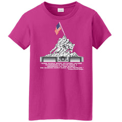 Iwo Jima Women's Tee (MULTIPLE COLORS) - Marine Corps Direct  - 3