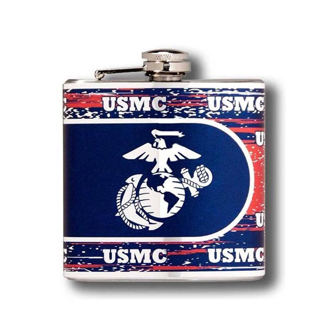 Marine Logo Stainless Steel Flask 6 oz.