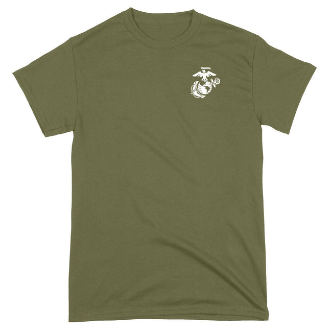 CLOSEOUT White EGA Chest Seal T-Shirt - Marine Corps Direct
