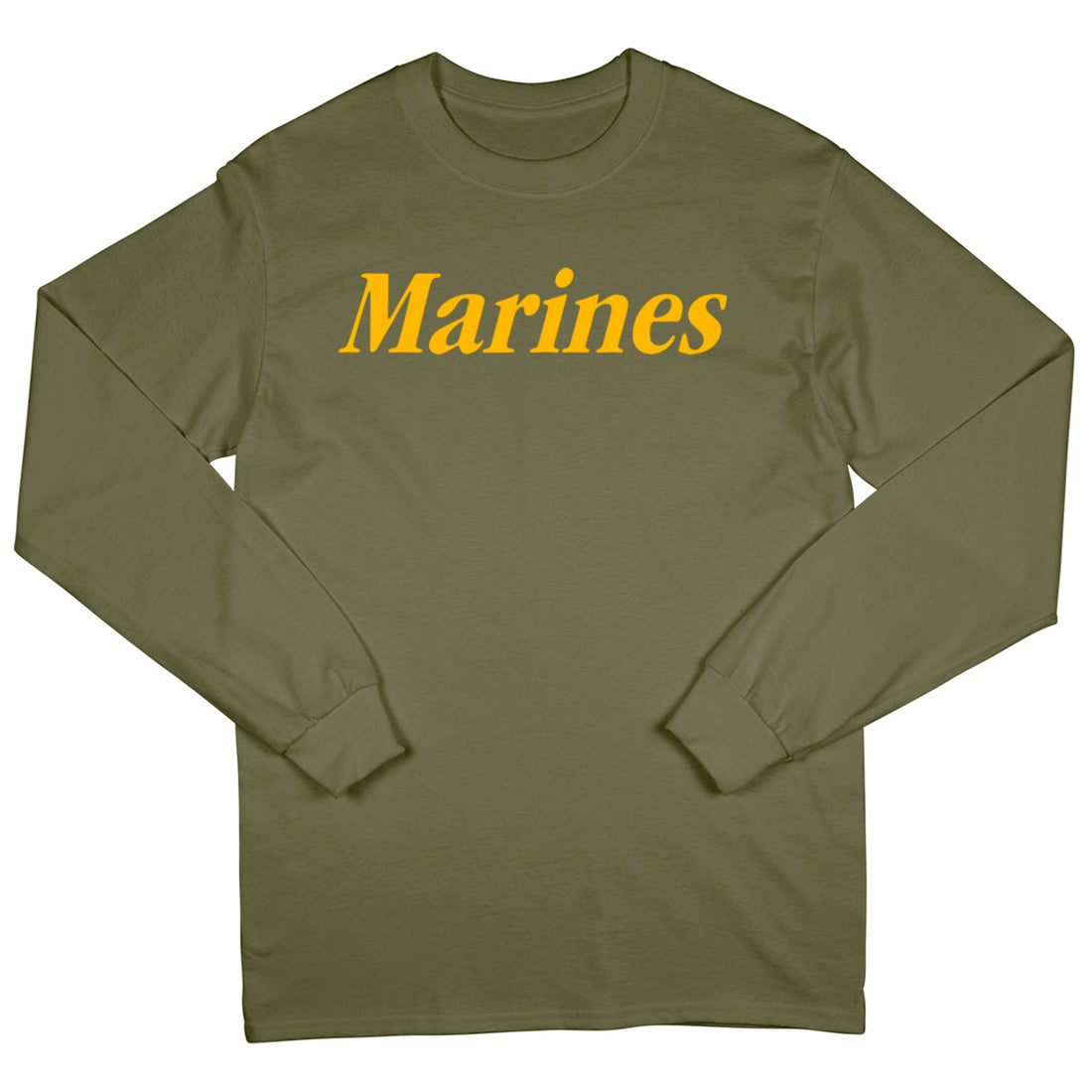 Gold Marines Long Sleeve T-Shirt - Marine Corps Direct