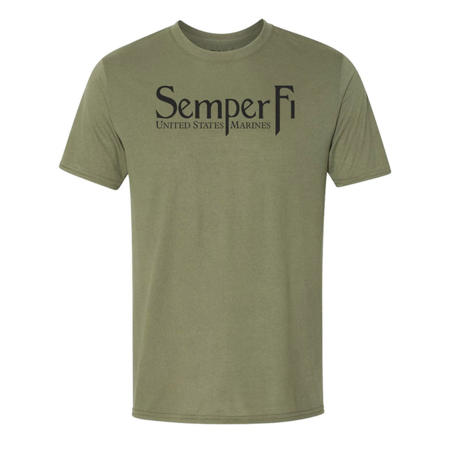 COMBAT CHARGED DRI-FIT PERFORMANCE POLY SEMPER FI T-SHIRT