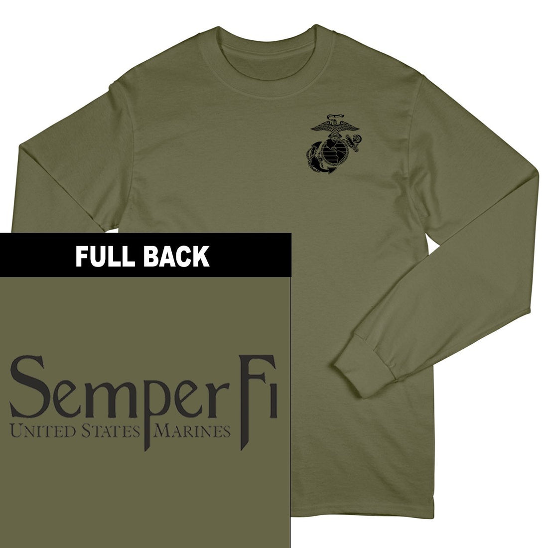 Semper Fi 2-Sided Long Sleeve T-Shirt - Marine Corps Direct