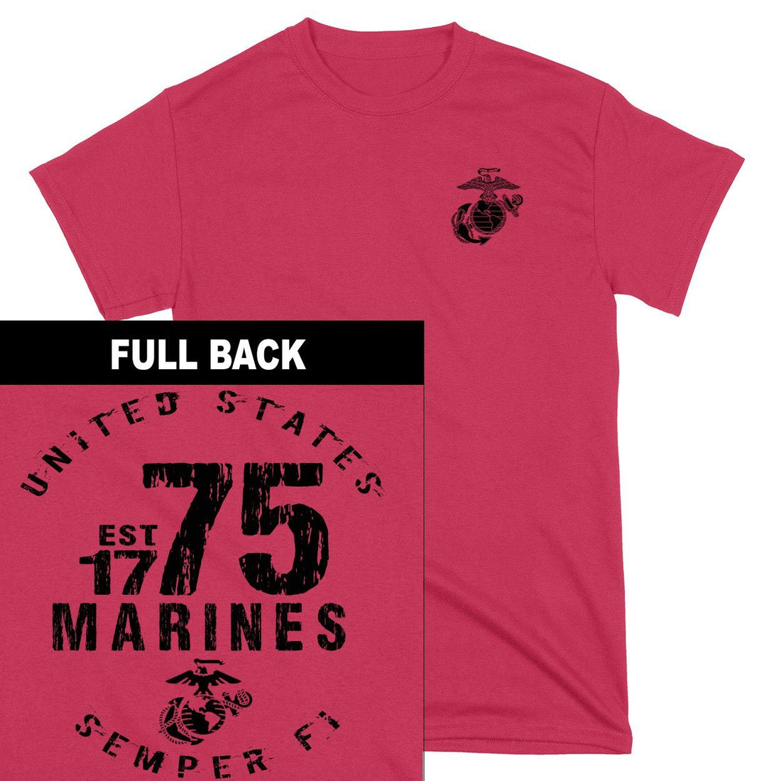 Marines Est. 75 2-Sided T-Shirt