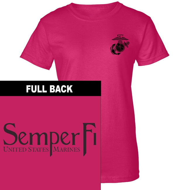 Semper Fi 2-Sided Women's T-Shirt - Marine Corps Direct