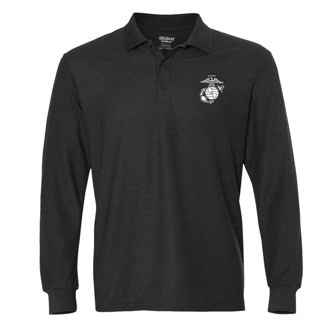 EGA Screen Print Long Sleeve Polo
