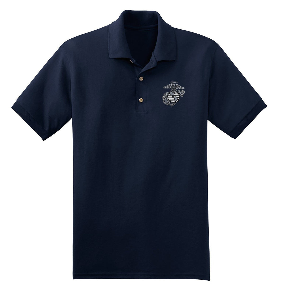Aluminum EGA Embroidered Polo - Marine Corps Direct