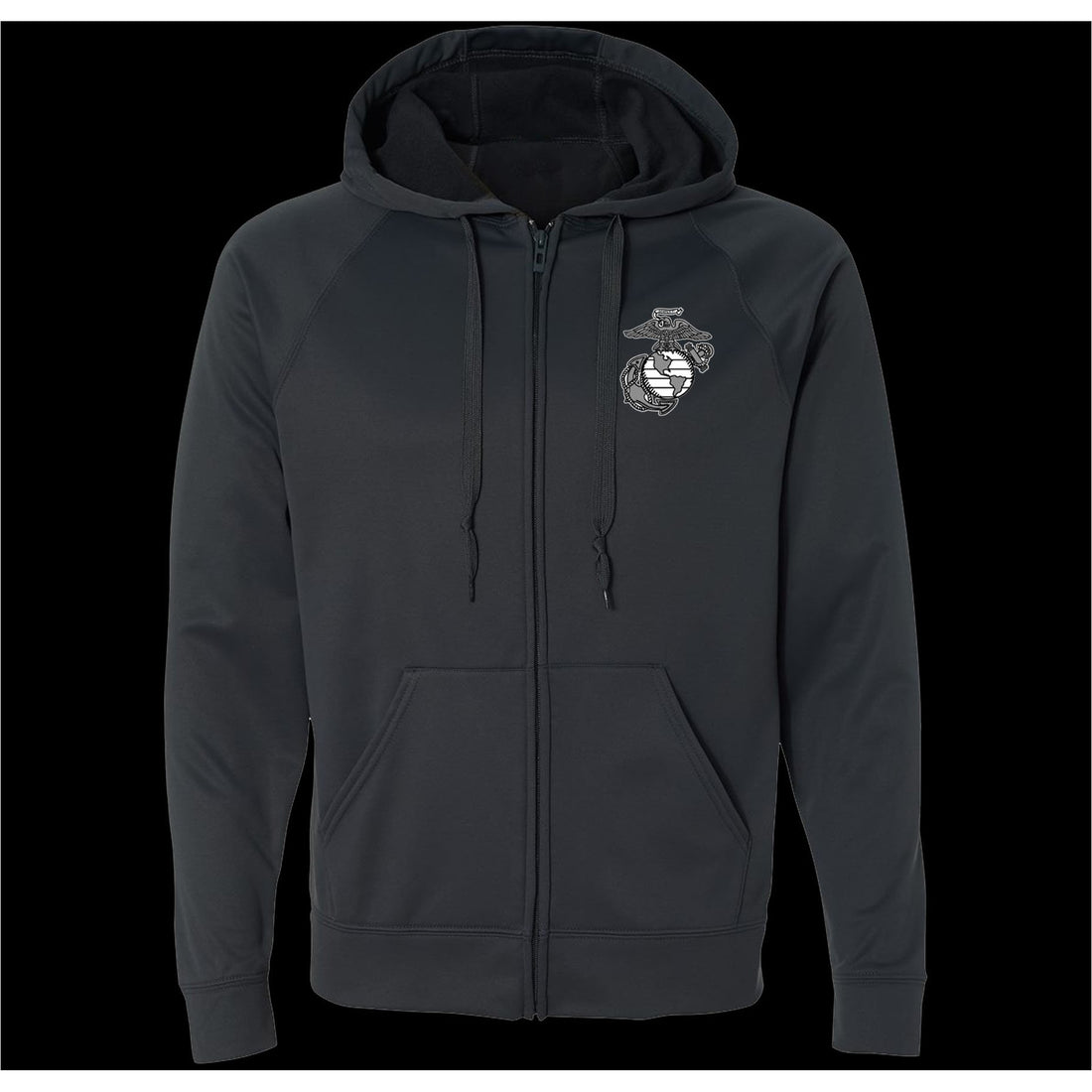COMBAT CHARGED DRI-FIT PERFORMANCE POLY GREY EGA FULL-ZIP HOODIE