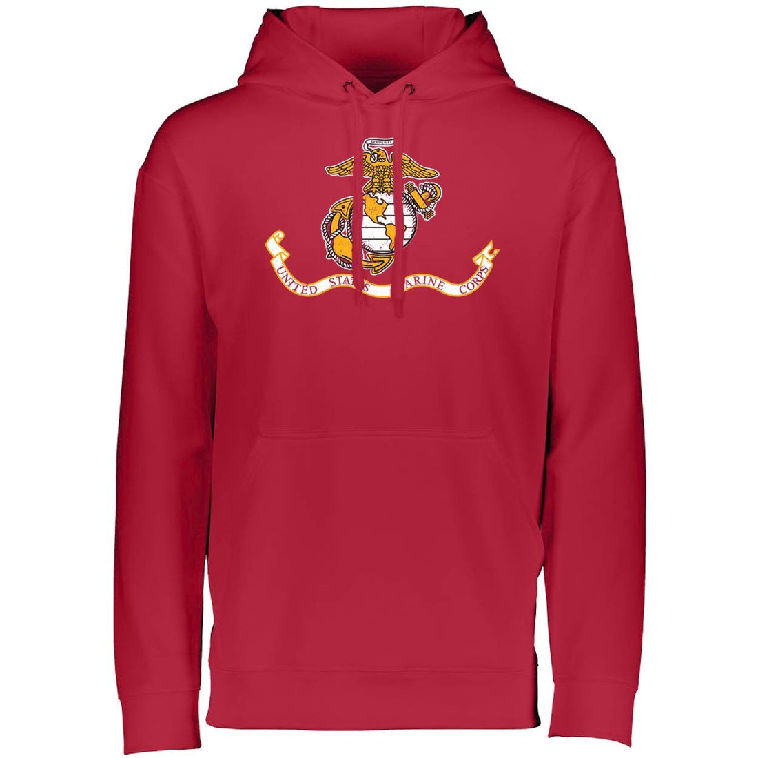 Marines Distressed Banner Dri-Fit Performance Hoodie - Marine Corps Direct