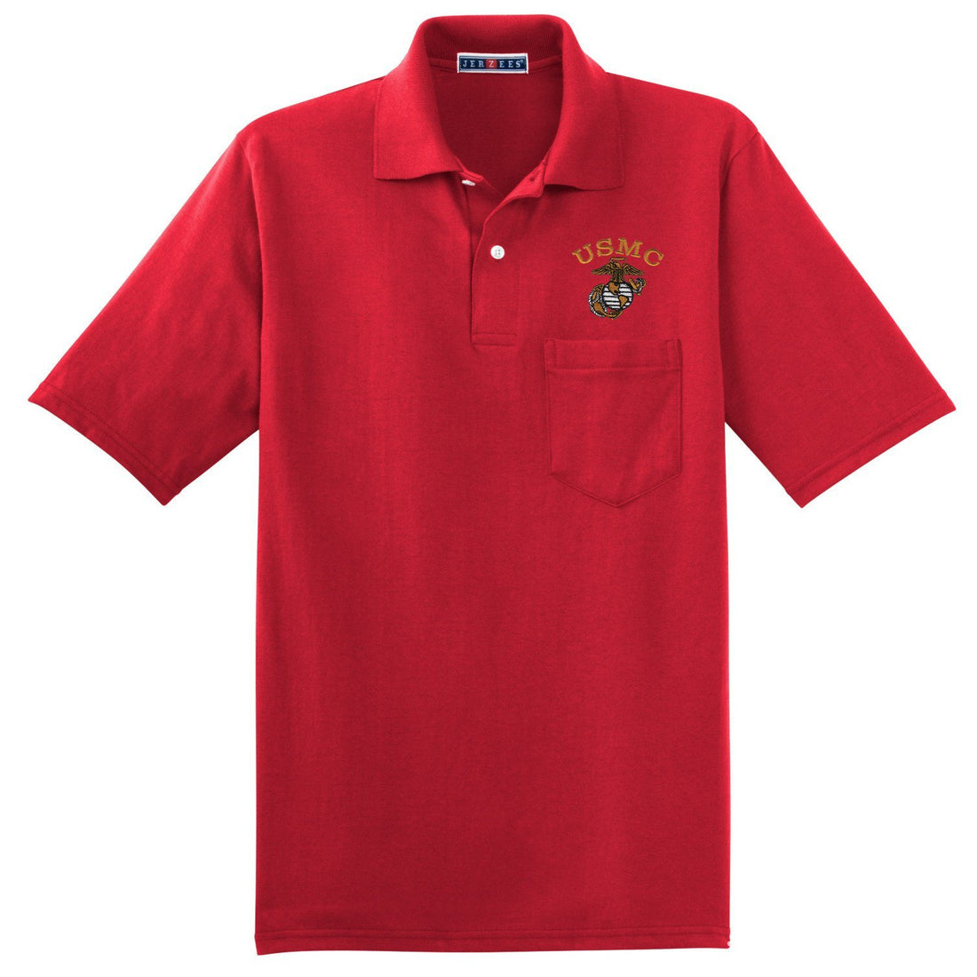 Tonal USMC EGA Embroidered Pocket Polo