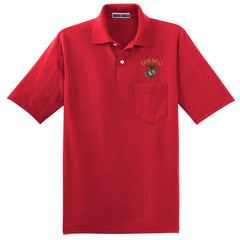 POCKET POLO USMC (MULTIPLE COLORS AVAILABLE)