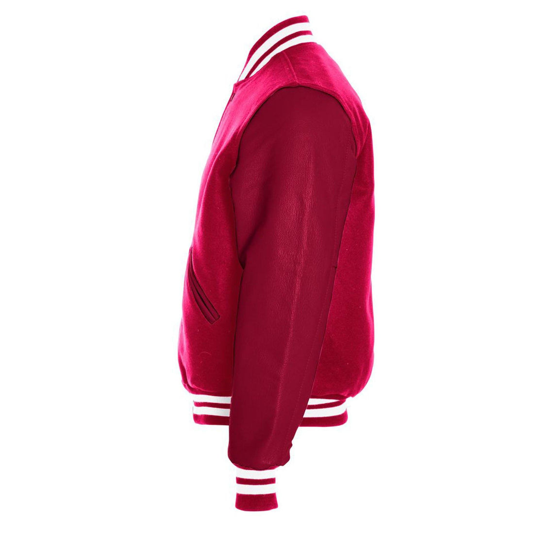 Custom USMC Varsity Jacket Scarlet and White