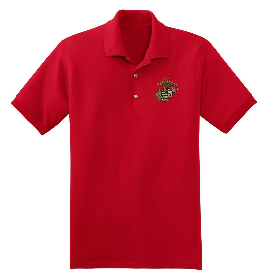 Custom Big EGA Embroidered Polo - Marine Corps Direct