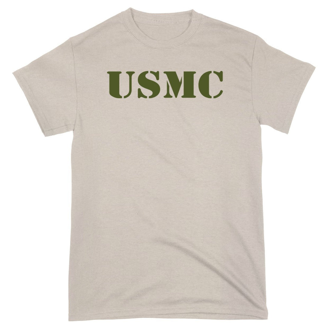 Sand with OD Geen USMC T-Shirt