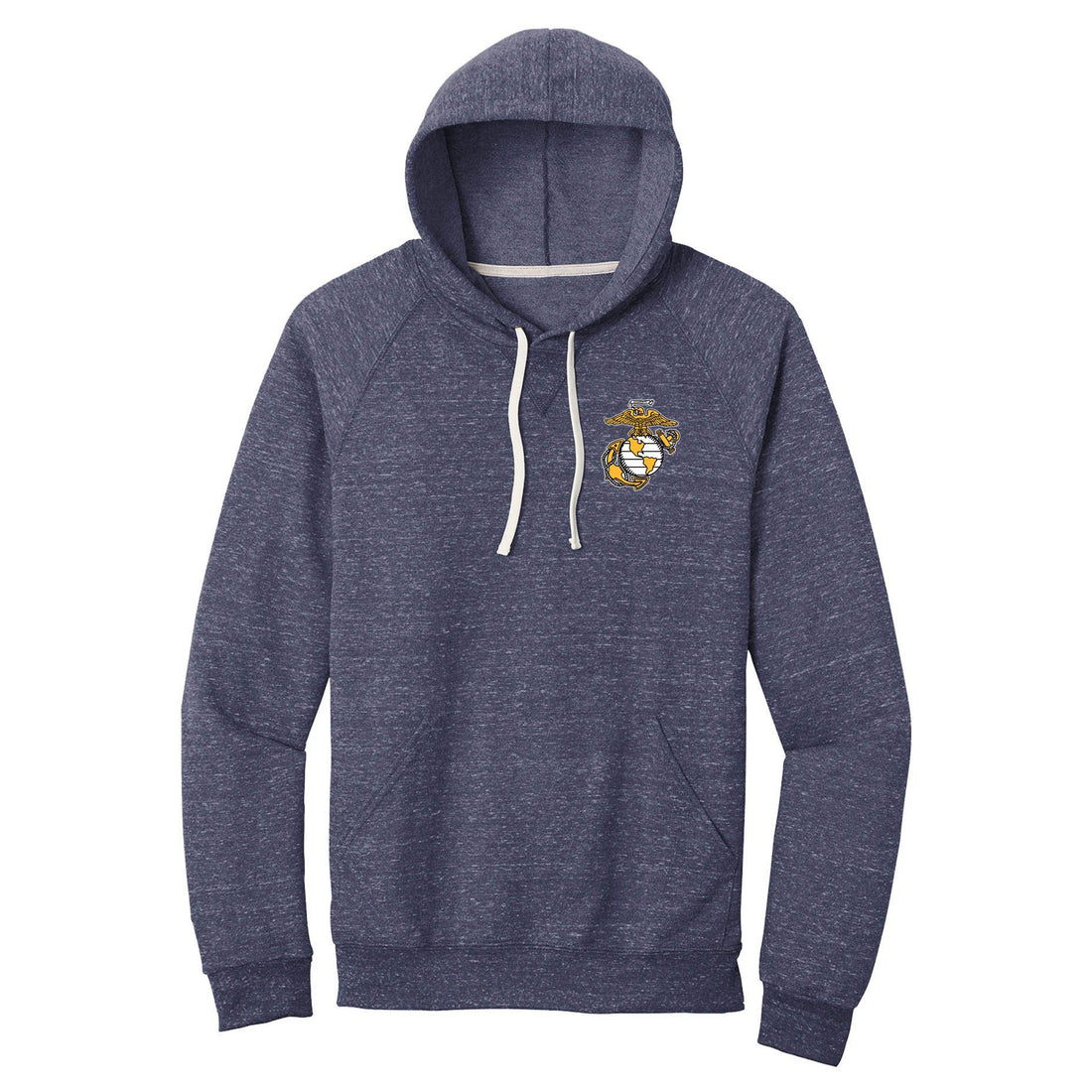 Navy Snow Heather EGA Hoodie - Marine Corps Direct