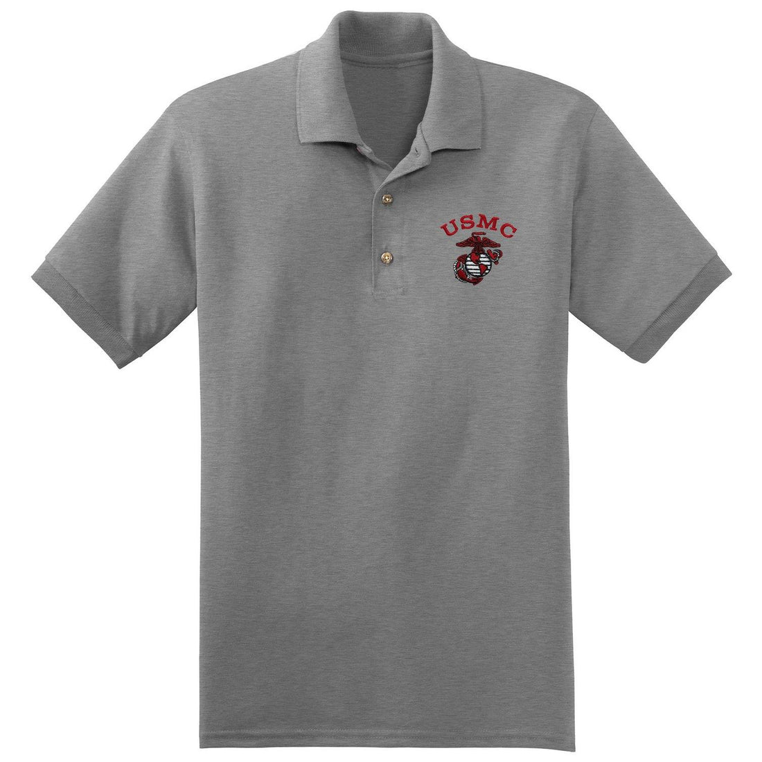 USMC  Christmas Red Embroidered Polo (Multiple Colors)