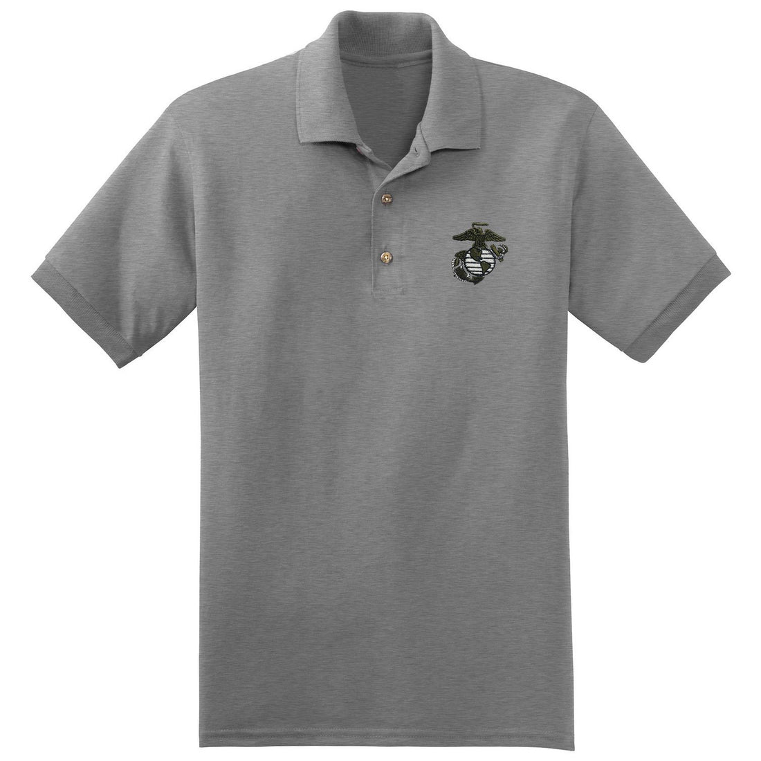 Military Green EGA Embroidered Sport Gray Polo