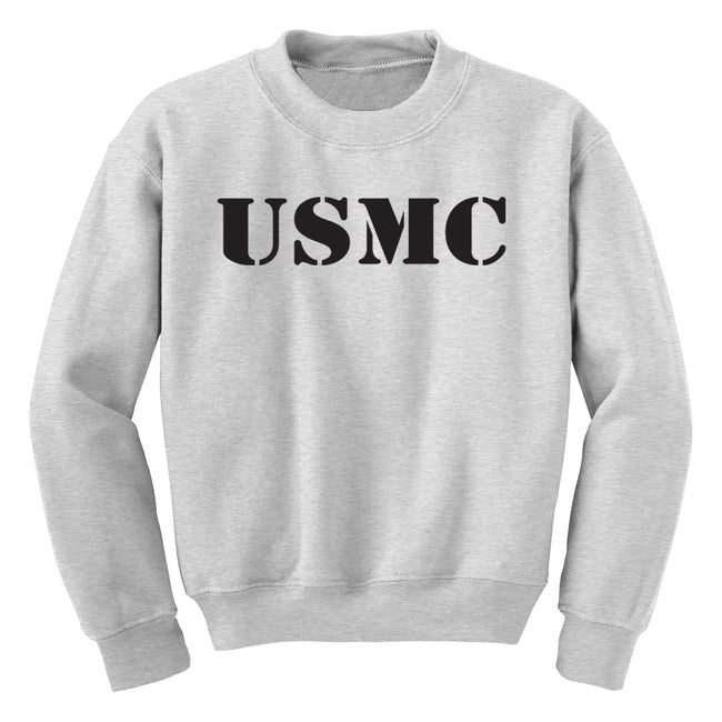 CLOSEOUT USMC Youth Sport Gray Sweatshirt