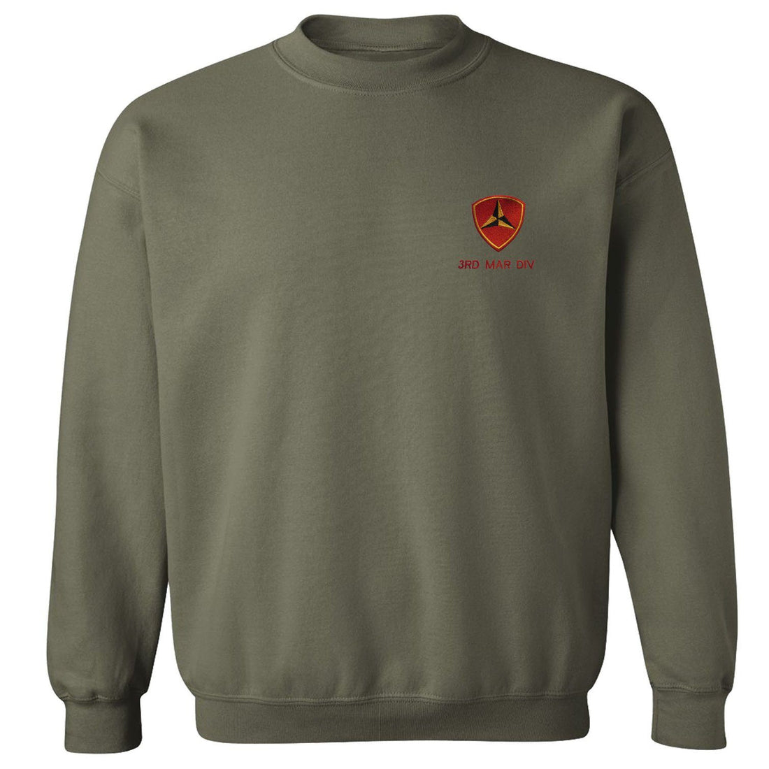 Embroidered 3rd Mar Div Sweatshirt (MULTIPLE COLORS)
