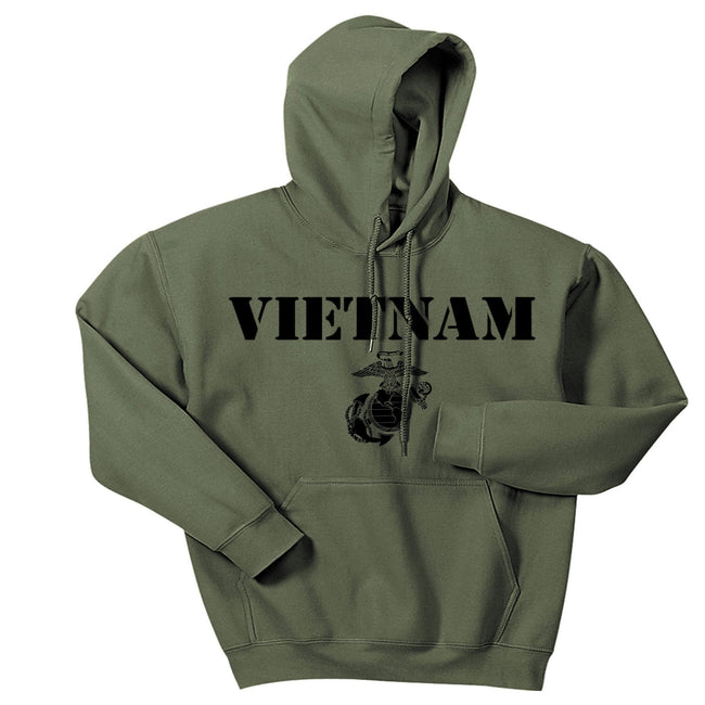 Military Green Vietnam Vintage Hoodie - Marine Corps Direct