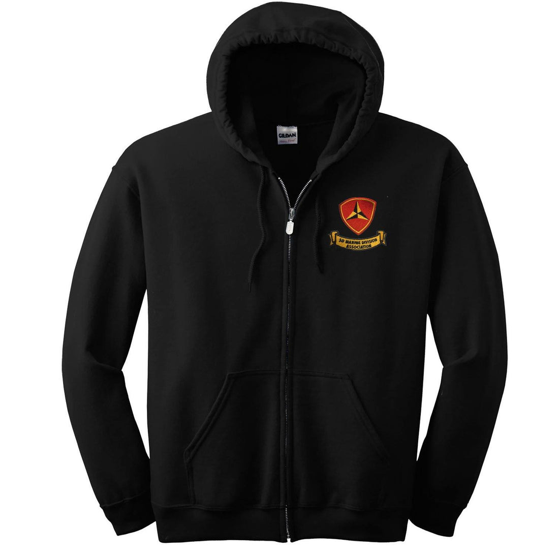 3rd Mar Div Association Heavy Blend™ Embroidered Full-Zip Hoodie