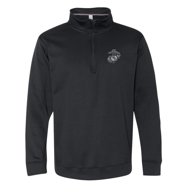 Aluminum Embroidered Performance® Tech Quarter-Zip Pullover Sweatshirt