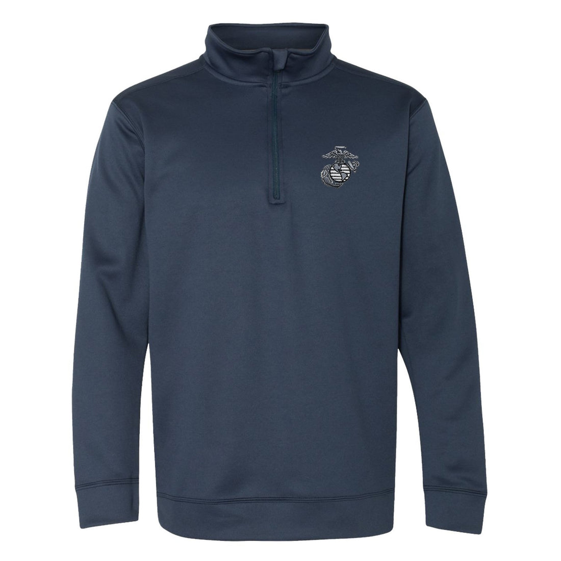 COMBAT CHARGED Aluminum EGA Embroidered Performance® Tech Quarter-Zip Pullover Sweatshirt