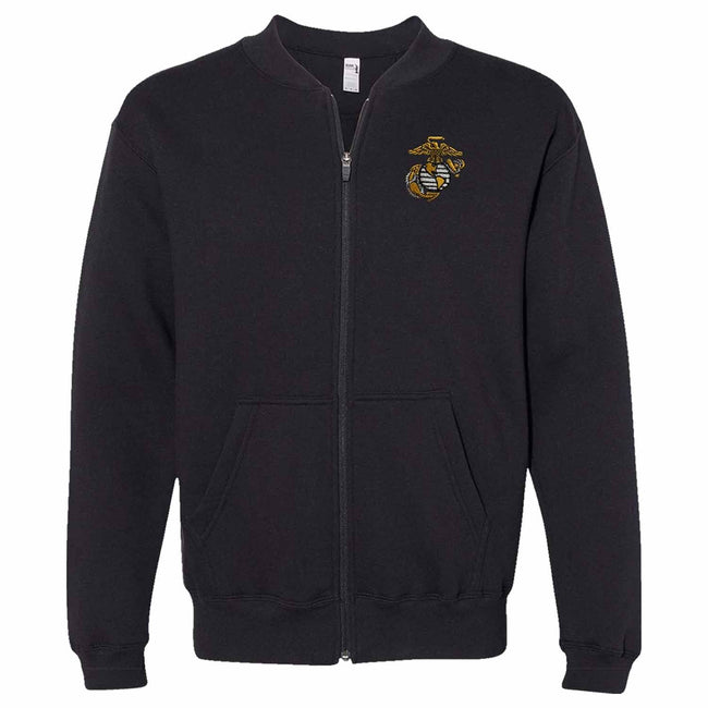 EGA Fleece Full-Zip Cadet Collar Embroidered Sweatshirt