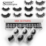 20/30/40/50/100 pairs wholesale mink eyelashes natural long handmade 3d lashes makeup eyelash extension faux cils in bulk
