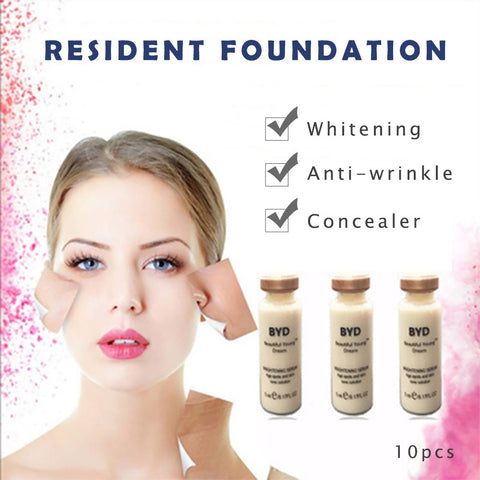 10pcs/set 10ml BB CC Cream Glow Skin Cream Meso White Brightening Serum Natural Nude Concealer Make Up Foundation Cosmetic Tool