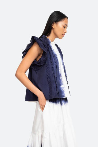 Denim tops and blouses from Sea New York at Rue Madame